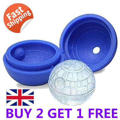 3D Star Wars Ice Cube Round Ball Mould Tray Desert Sphere Death Star Bar Party