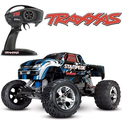 New Traxxas Stampede Xl 5 2Wd Rc Monster Truck Blue Edition 36054 4   Free Ship