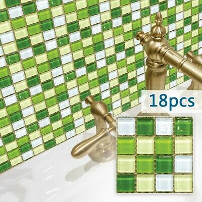 3D Mosaico Adhesivos de Pared Azulejos Cocina Baño/Decoración Impermeable