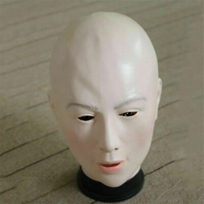 Female Face Latex Maske Fancy Dress Crossdresser Costume Living (Doll Masken)