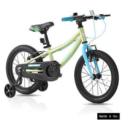 "GREENWAY® Kids Bike for Boys Girls Children's Bicycle - 16"" inch - Green & Blue"
