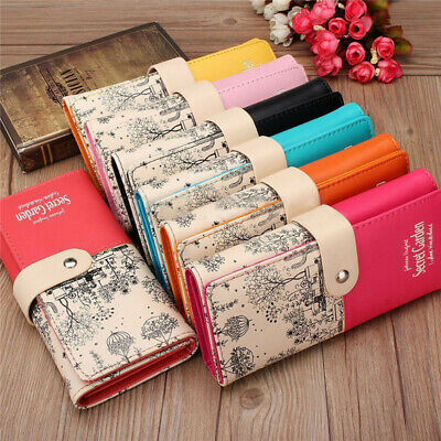 Women Ladies PU Leather Wallet Long Purse Card Holder Bag Clutch Handbag UK