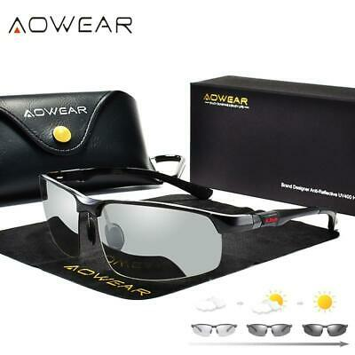 AOWEAR Photochromic Sunglasses Men Polarized Chameleon Glasses Male Change (Change Glasses)