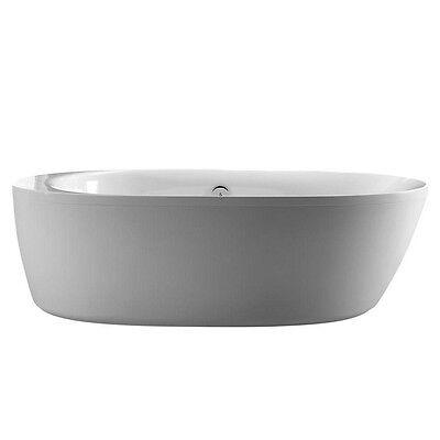 Schon Logan 5.9 ft. Center Drain Freestanding Bathtub in Glossy White NEW