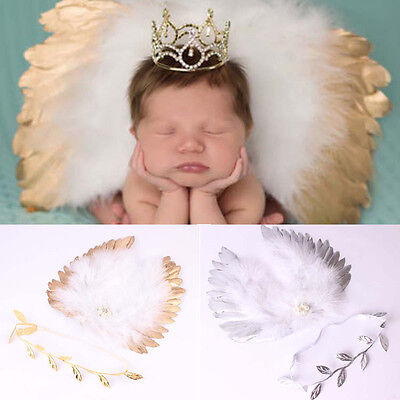 Newborn Baby Infant Angle Wings Leaves Costume Photo Photography Props Outfits - Costume Newborn