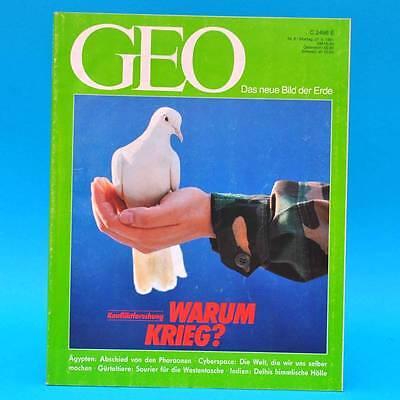 GEO Magazin 6/1991 Cyberspace Gürteltier Delhis Basar Konfliktforschung Krieg