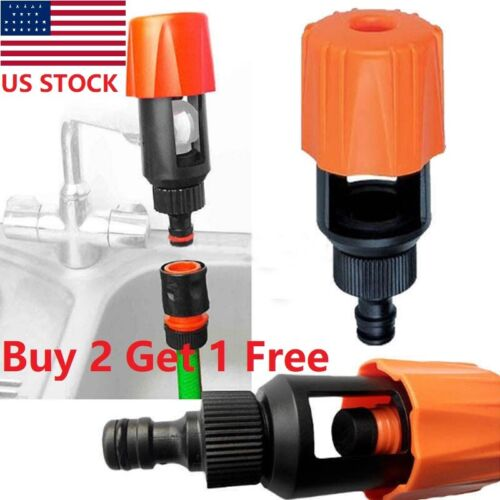 Universal Water Tap to Garden Hose Pipe Connector Adapter Quick Fitting Connectors Mixer Kitchen Bath Tap Adapter Indoor Outdoor