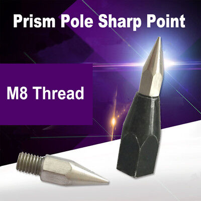 Lightweight Prism Pole Sharp Point Replaceable Tip M8 Thread For Topconleica