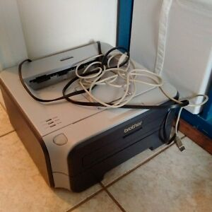 Brother Printer with installation CD and cords, $3