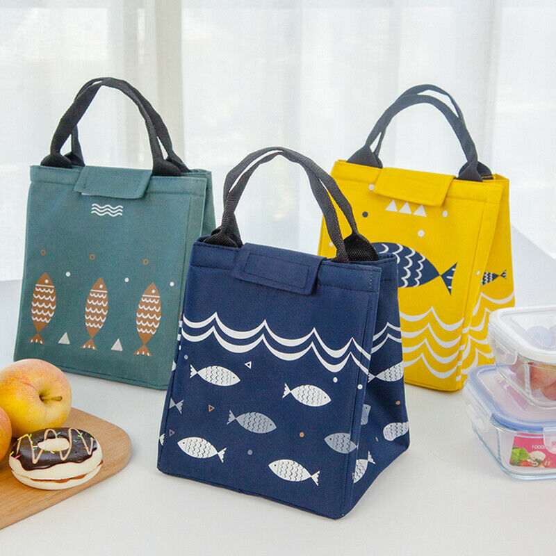 Insulated Lunch Bags Cooler Box Picnic School Travel Portabl
