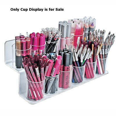Two Tier Cup Display For Pegboard Slatwall Counter 13.75w X 6d X 6h Inches