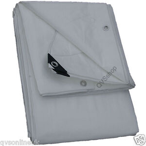7Mx11M-WHITE-HEAVY-DUTY-WATERPROOF-TARPAULIN-BOAT-MARKET-STALL-COVER-TARP-SHEET