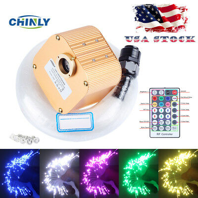 CHINLY 16W RGBW Twinkle 28key Remote LED Fiber Optic Star Ce