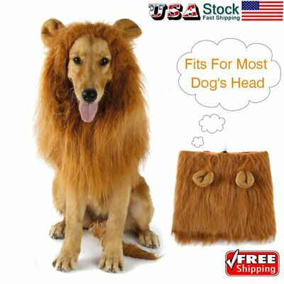 Costume Lion Mane Wig for Large Dog Halloween Clothes Fancy Dress up BR](Dog Halloween Costumes For Large Dogs)