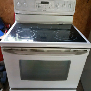 Stove Kenmore convection oven glass top