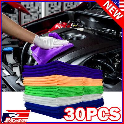 Microfiber Cleaning Cloth Rag Car Wash Polishing Detailing Kitchen Dusting Towel