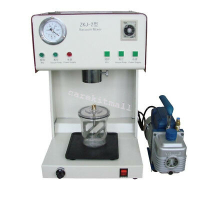 Dental Lab 150w Vacuum Mixer Machine Outer Pump Mixing Vibrating Materials 500ml