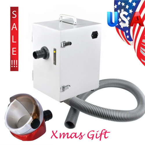 370W Dental Digital Portable Dust Collector Vacuum Cleaner Device Lab Equipment
