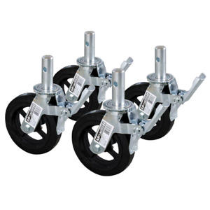 set of 4 scaffolding wheels. new