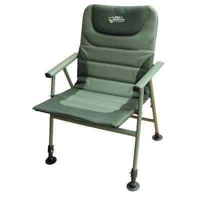 NEW FOX WARRIOR XL ARM CHAIR CARP FISHING (CBC043)