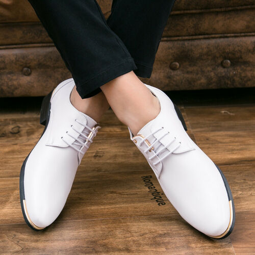Details about  /Mens Low Top Leisure Faux Leather Shoes Work Office Comfy Street Walking Flats L