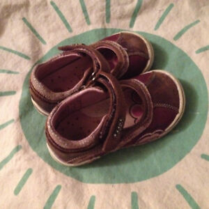 Girls Purple Leather Shoes 12-18 Month