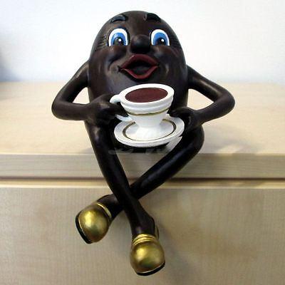 KAFFEEBOHNE mit KAFFEETASSE 21 cm Werbefigur Deko Gastro KAFFEE WERBUNG Figur
