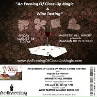 AN EVENING OF CLOSE-UP MAGIC & WINE TASTING