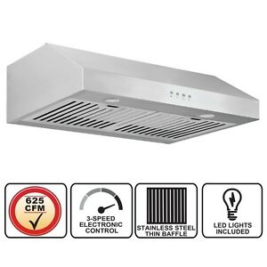 625cfm ANCONA ADVANTA PRO Elite Under Cabinet Range Hood - 30""