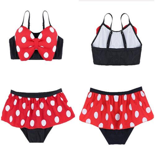 Baby Mädchen Bikini Kleid Anzug Minnie Bottoms Badeanzug Bademode Badeanzüge