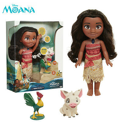 Disney Singing Moana   Friends Action Figures Doll Light   Movie Song Kids Toy