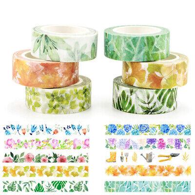 Floral Plant Flower DIY Washi Tape Scrapbooking Adhesive Sticker Decorative Cute - Diy Tape
