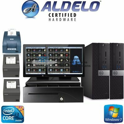 Aldelo Plus Pos Restaurant Complete 2 Station Welo Touch Screens - Brand New