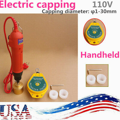 Handheld Electric Bottle Capping Machine Screw Capper Red 110v 60hz 80w Us Stock