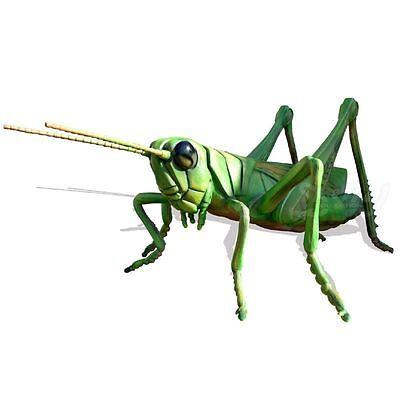 Grashüpfer Grashopper riesig überlebensgroß Dekoration Deko Figur Tier INSEKT