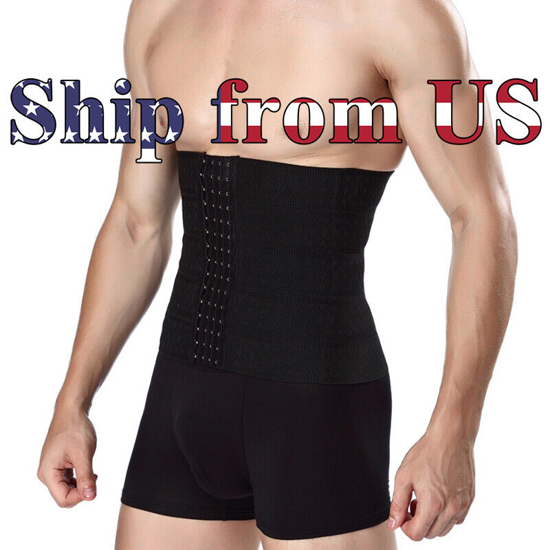 Men's Waist Trainer Body Shaper Tummy Control Belt Belly Fat Burner Slim Cincher Clothing, Shoes & Accessories