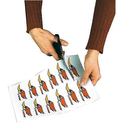 Klebefolie zum Bedrucken: 20 Klebefolien wetterfest A4 für Laserdrucker weiß