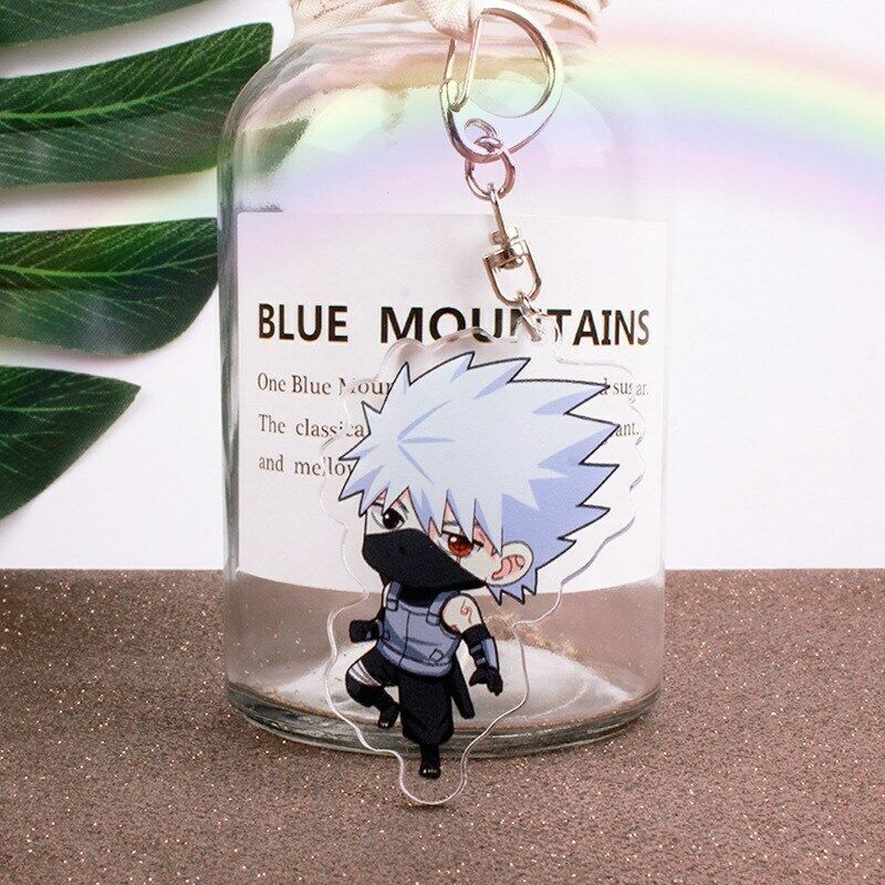 Naruto Hatake Kakashi acrylic Keychain Key Ring Two faces Bag Ornament Keyring 2