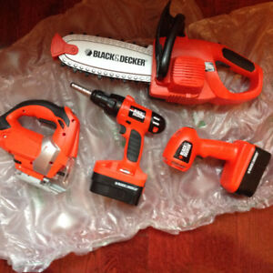 Black and Decker Working Power Tools, Makes Noise and Lights Up