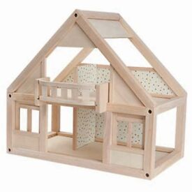 Plan Toys Large Wooden Dolls House with lots of furniture