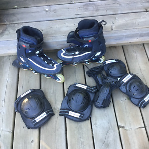 Rollerblades and safety pads