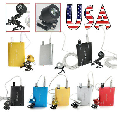 Usa Dental Surgical Led Head Light Lamp Headlight For Binocular Loupes Glass Fda