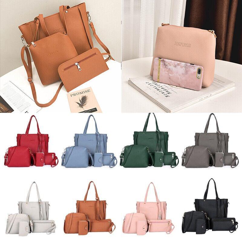 4pcs/Set Women Handbag Lady Shoulder Bags Tote Purse Messeng