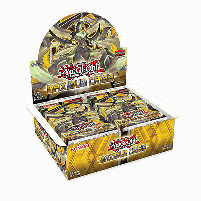 Yu-Gi-Oh Maximum Crisis 1st Edition U.S English FACTORY SEALED Booster Box