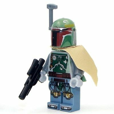 Boba Fett Green (Style 1) Mini Figure NEW UK Seller Fits Lego Starwars Star Wars