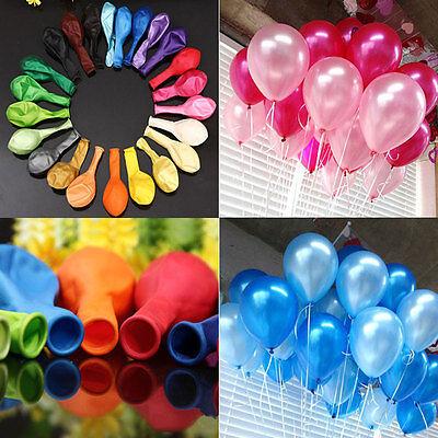 100 Helium Balloons (100PCS LATEX BALLOONS 10