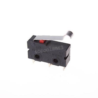 2 Pcs R Type Lever Actuator Miniature Micro Switches Black