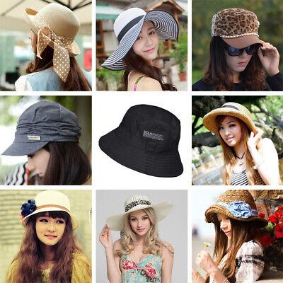 Bulk Mix women Lady Summer Beach Hats Caps Straw Cotton Wholesale  £2Per Hat new