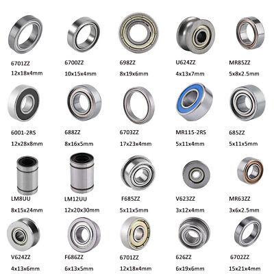 10pcs Rubber Sealed Deep Groove Ball Roller Bearings Linear Bearings Bushing CE