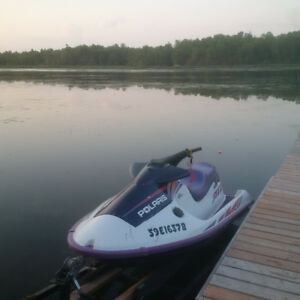1997 Polaris SLTX Jet Ski with Galvanized Trailer and Lift/Ramp